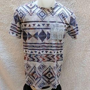 On the Byas Aztec pattern Tee